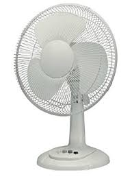 Babz 12 Inch Desk Table Fan With Oscillating Function And 3 Speed
