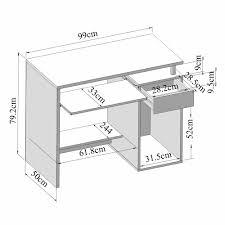plan de bureau en bois bureau informatique en bois longueur 99cm hades