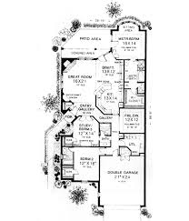 house plans by lot size patio size lot traditional style house plans 2256 square foot home