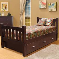 bedroom beautiful wooden captain trundle bed with drawers and