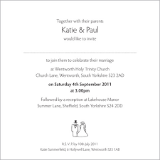 wedding card from groom to wedding invitation wording from and groom kawaiitheo