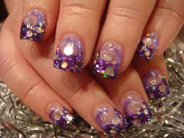 luminous nails retro inspired acrylic nails luminous nails 2015