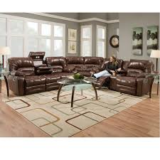 legacy 500 leather reclining sectional in sofas and sectionals