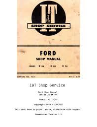 i u0026t ford shop service manual series 2n 8n 9n