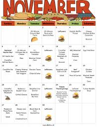 november 2016 budget menu plan with thanksgiving menu and grocery