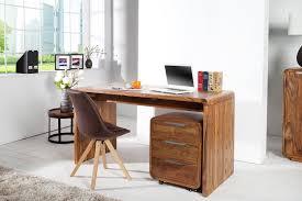 bureau contemporain bois massif bureau contemporain en bois de sheesham massif coloris naturel 150