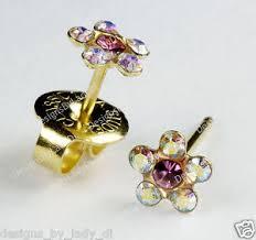 ear piercing studs ear piercing earrings gold studs rainbow flower