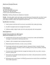 Veterinary Technician Resume Examples by Warehouse Job Resume Sample Veterinary Assistant Resume Samples