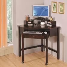 furniture lacquered white oak wood corner computer desk which