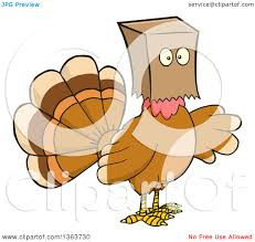 cartoon images of thanksgiving turkey clipart of a cartoon thanksgiving turkey bird wearing a bag over