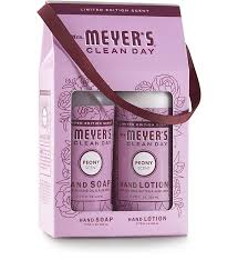gift set peony soap lotion in gift box mrs meyer s