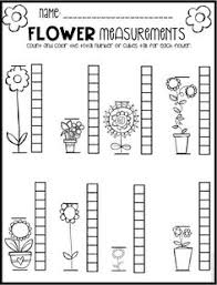 non standard measurement length worksheets for kindergarten