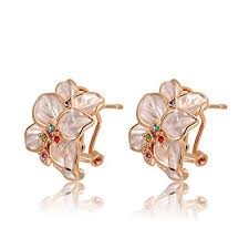 Best Gift For Women Amazon Com Angelady Fashion Statement Rose Earrings Best Gift For