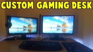 Custom Gaming Desks by Custom Electric Sit Stand Gaming Desk Diy Youtube