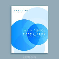 ai blue circular shapes brochure template vector free download