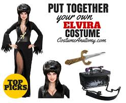 elvira costume wigs full length dress makeup tutorial