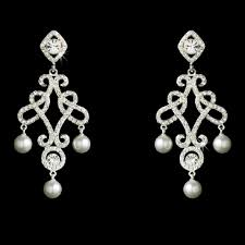 and pearl chandelier earrings elegance by carbonneau silver and pearl chandelier
