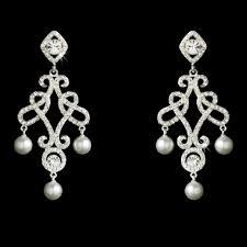 pearl chandelier earrings elegance by carbonneau silver and pearl chandelier