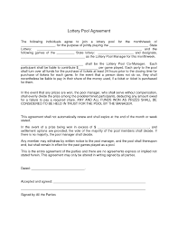 lottery contract template 28 images editable lottery syndicate