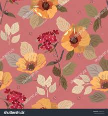 seamless pattern summer flowers poppies red stock vector 424931191