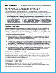 Substitute Teacher Job Description For Resume Furniture Sales Resume Examples Google Search Resumes