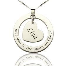 Necklace With Name Promise Necklace With Name U0026 Phrase Sterling Silver