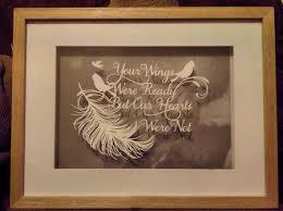your wings were ready memory baby bereavement papercut