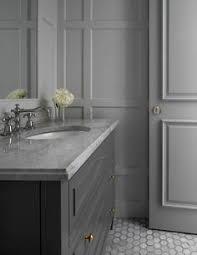 Dark Gray Bathroom Vanity Grey Bathroom Cabinet With White Quartz Countertop And Concrete
