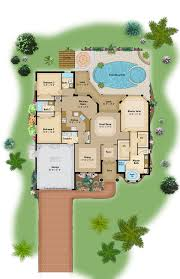 Florida Style Homes Color Floor Plan And Brochure Samples On Behance Sample Florida