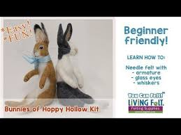 hoppy hollow easter needle felting bunny kit bunnies of hoppy hollow felted