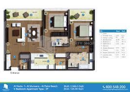 5 bedroom apartment floor plans floor plan of al nada al raha beach