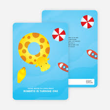 swimming pool themed birthday party invitations paper culture