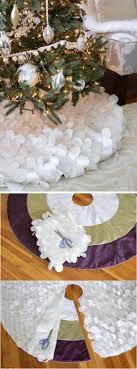 white tree skirt 35 diy christmas tree skirt ideas hative