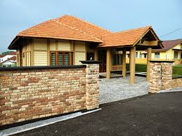 old clay bricks modern bungalow house designs philippines bricks