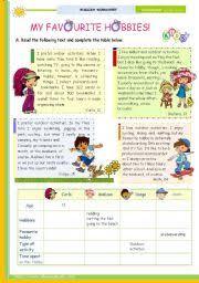 english teaching worksheets hobbies