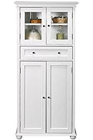 Bathroom Towel Cabinet Wood Linen Cabinet Home Kitchen