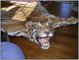 fake tiger skin rug rug designs