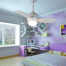 Small White Ceiling Fan With Light 34inch Small Ceiling Fan Light With Remote White Children