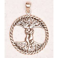tree of pendant with entwined in trunk wicca