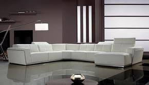 Cheap White Leather Sectional Sofa Modern Sectional Sofas At Contemporary Furniture Warehouse Sale