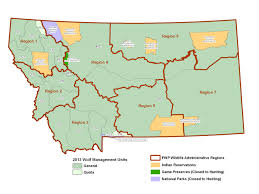 Montana State Map by Montana Fish Wildlife U0026 Parks Gis Data