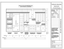 Chief Architect Kitchen Design by Kitchen Elevation Drawings Cabinet Detail Drawing Size Interior
