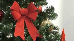 christmas tree with white lights and red bows christmas decoration blinking red lights stock video footage