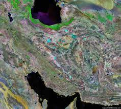tehran satellite map satellite map of iran major tourist attractions maps
