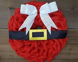 santa belt ribbon christmas belt etsy