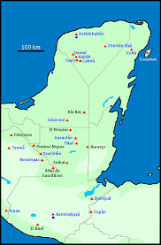 mayan empire map history of the ancient