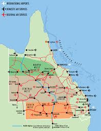 map of queensland queensland airports map queensland australia