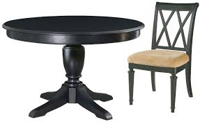 camden black round extendable dining room set from american drew