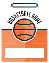 basketball c brochure template basketball flyer illustration stock vector illustration of