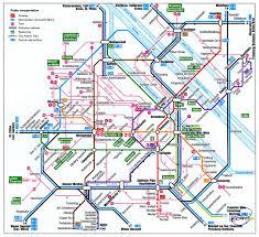 Vienna Metro Map by Austria Vienna Train Rail Maps